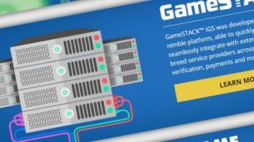 Screenshot of computer servers
