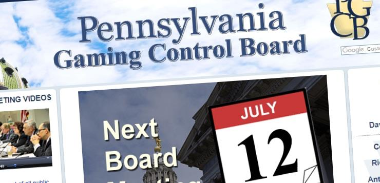 Pennsylvania Gaming Control Board website