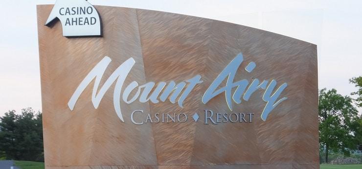 Mount Airy Casino Resort sign