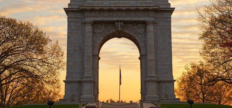 Valley Forge Memorial Arch Philadelphia