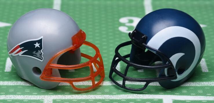 patriots rams super bowl 53 helmets
