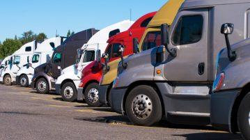 truck stop trucks