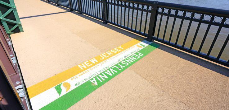 new jersey pennsylvania border bridge delaware river