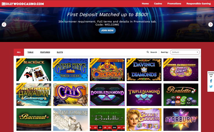 Hollywood Casino Online Slots