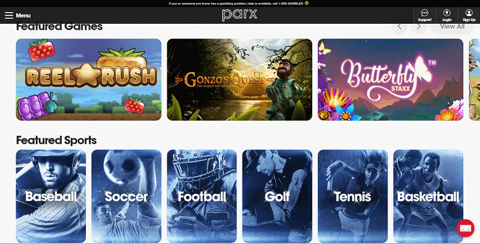 Parx Online Casino Lobby