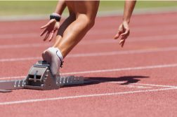 starting blocks runner