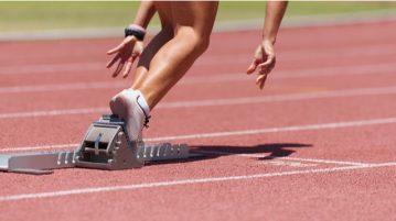 starting blocks runner