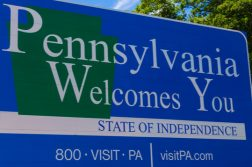 Pennsylvania welcome sign