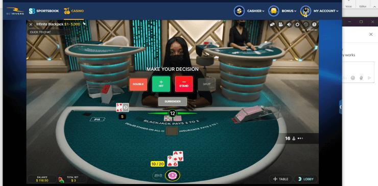 evolution live dealer screenshot