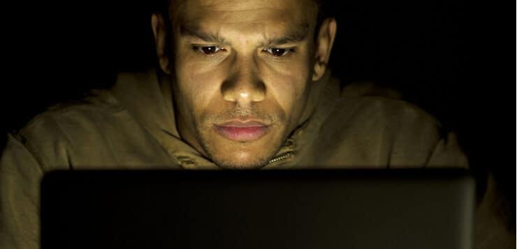 online problem gambler