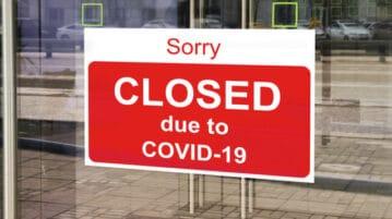 closed covid-19 sign