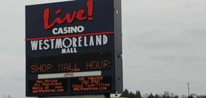 Live! Pittsburgh mall sign