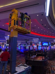 Live Casino Philadelphia interior construction