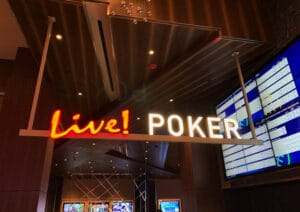Live Casino Philadelphia poker room entrance