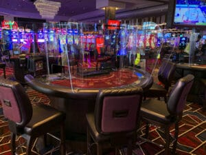 Live Casino Philadelphia table games plexiglass