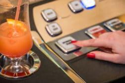 drinking at slot machine