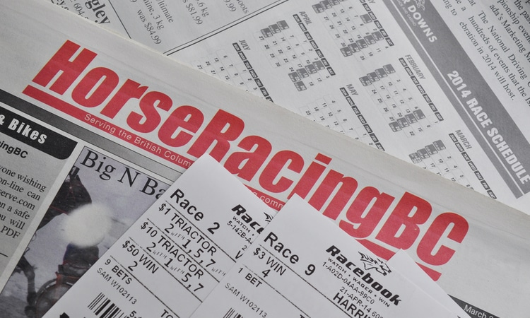 horse betting slips