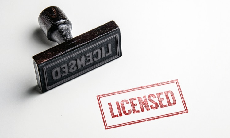 licensing stamp