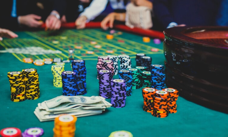casino chips roulette table