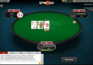 pokerstars spin and go table
