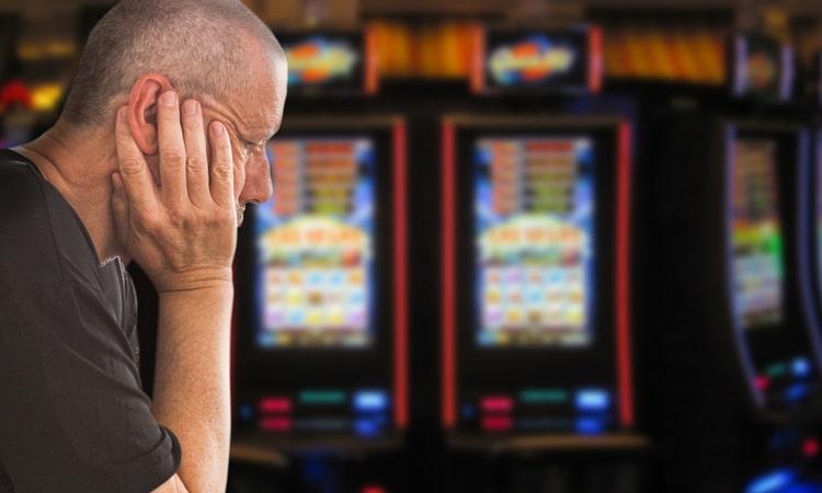 unhappy at slot machines